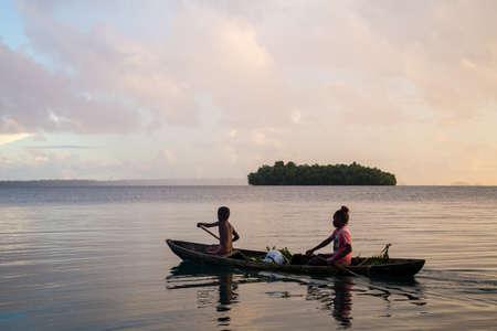 Solomon Islands children on the way to school Editorial