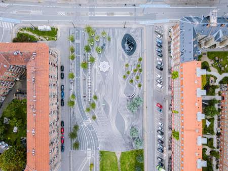 Superkilen Park in Copenhagen, Denmark Editorial