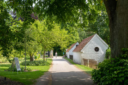 Assistens Cemetery in Copenhagen, Denmark Editorial