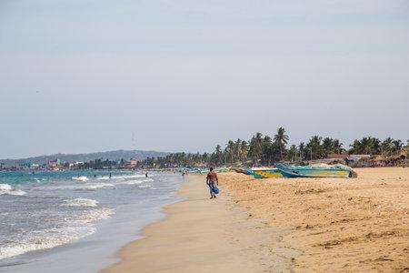 Sand Beach in Trincomalee, Sri Lanka