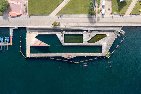 Islands Brygge Harbour Bath in Copenhagen Editorial
