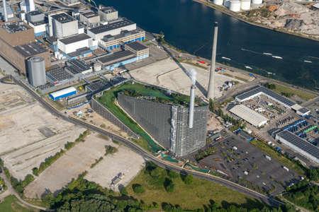 Aerial view of Amager Bakke in Copenhagen, Denmark Editorial