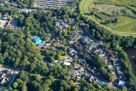 Aerial View of Bakken Amusement Park in Copenhagen Editorial