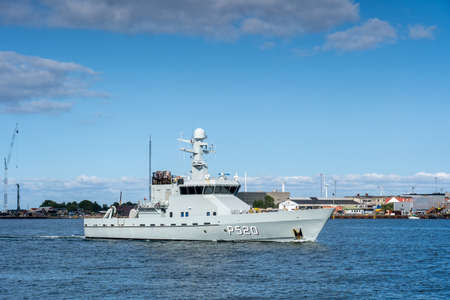 Danish Navy Ship P520 in Copenhagen habor Editorial