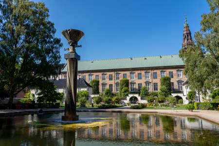 Royal Library Garden in Copenhagen, Denmark Editorial