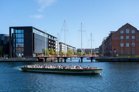 Tourist tour boat in Copenhagen Harbor
