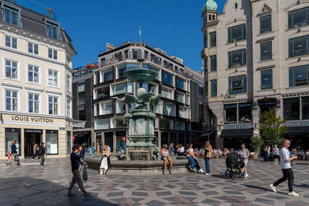 Stork Fountain in Copenhagen, Denmark Editorial
