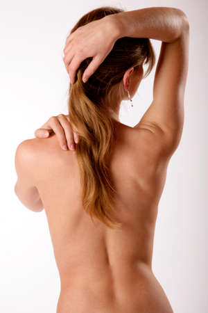 Back view of a woman photo
