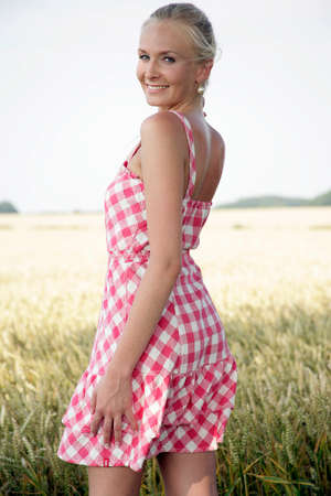 backview: backview of a young woman Stock Photo
