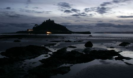 st michaels mount at night
