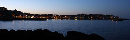 St ives harbour at nightfall