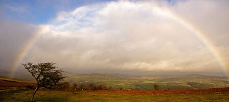rainbow on dartmoor national park