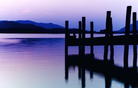 Purple Jetty Stock Photo - 12343763