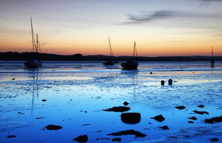 Twilght on the river exe in devon Stock Photo
