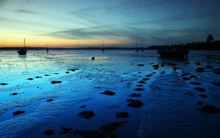 Exe estuary twilight night