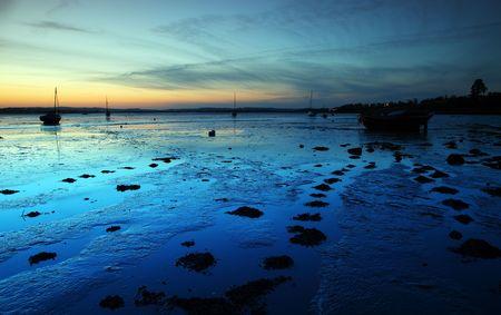 Exe estuary twilight night