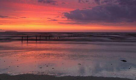 Panoramic sunset at Burnahm on sea