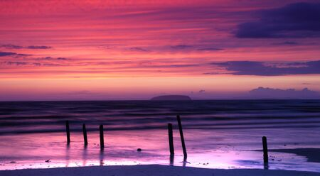 burnham: fiery sunset over burnham Stock Photo