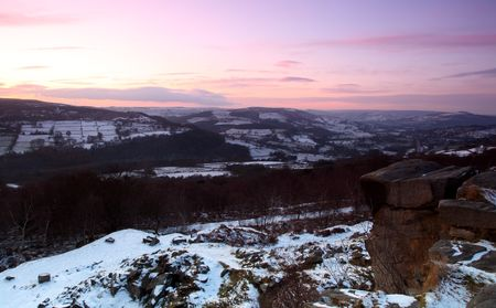 county side: Sunset Peak District