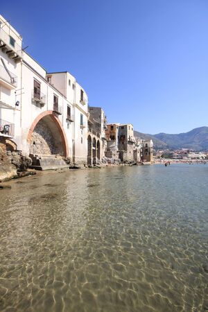 Crystal clear waters at cefalu photo