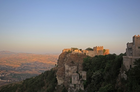 Erice castle Stock Photo