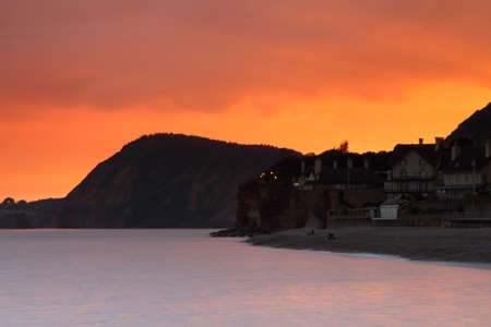 Golden Haze of Sidmouth Stock Photo