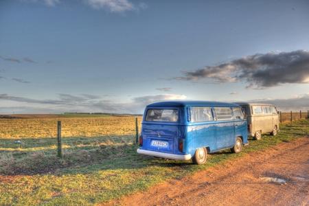 Classic VW autocaravanas Foto de archivo - 12790474