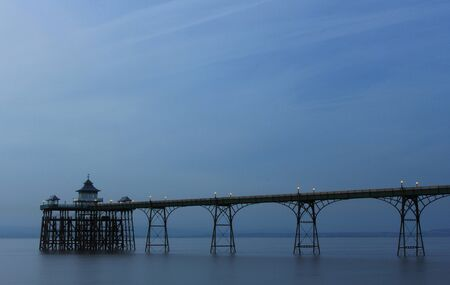 bristol channel: Old fashioned pier in the Bristol channel in England