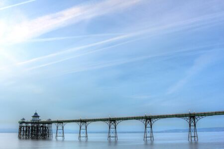 Old fashioned pier in the Bristol channel in England
