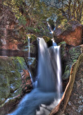 scotish: Ardessie falls in the beautiful scotish highlands in high dynamic range
