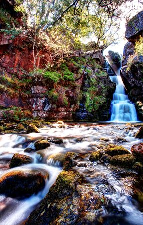 Ardessie falls in the beautiful scotish highlands