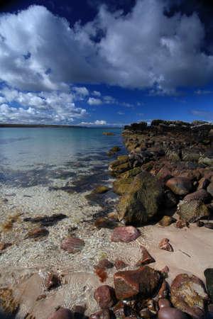 Beach on Gailoch peninsular over looking isle of skye Stock Photo - 13999746