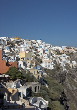Unique architecture on the island of santorini photo