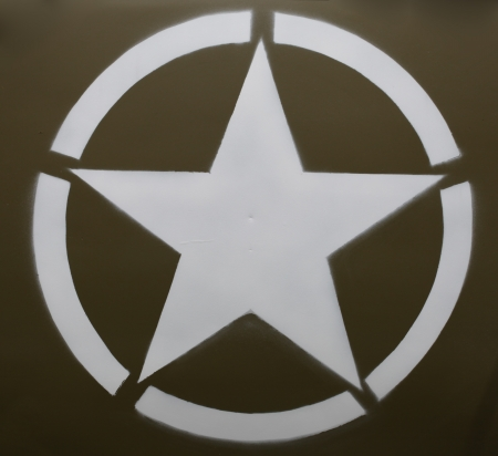 US military star identifying US forces Editorial