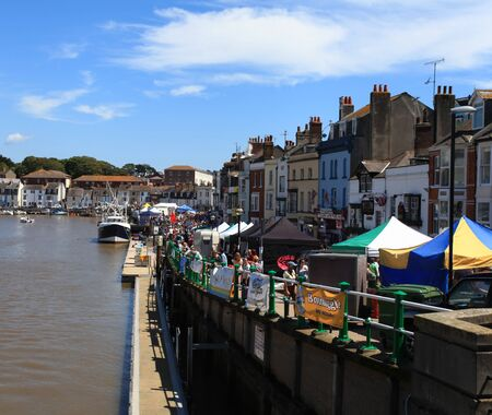 Sea food festival at Wemouth Quey Dorset UK  Editorial