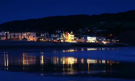 nightime: Nightime on the beach at Sidmouth