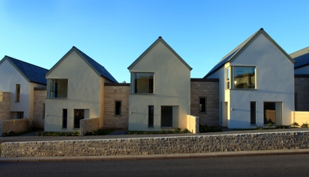 Sustainable housing on Portland in Dorset England