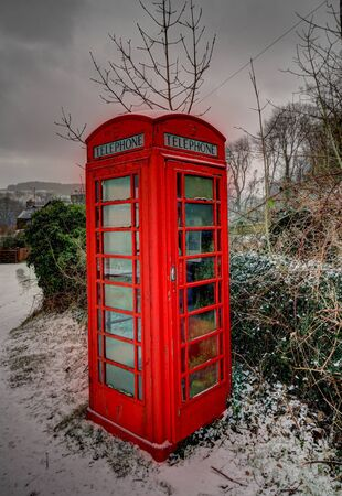 phonebox: Old phone box in Wales at Christmas