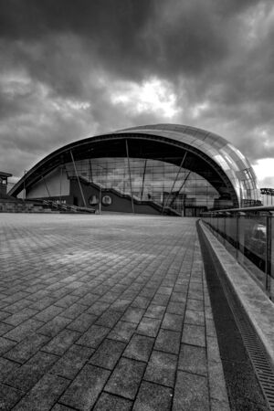 Contemporary architecture shot in high dynamic range in the north east of england Editorial