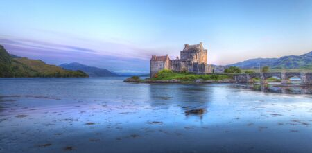 Eilan Donan in the Scottish highlands the setting of the film highlander Stock Photo - 16871230