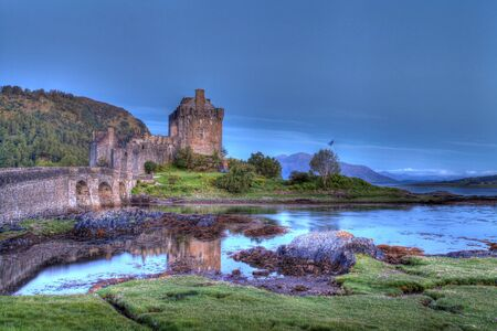 Eilan Donan in the Scottish highlands the setting of the film highlander Stock Photo - 16871273