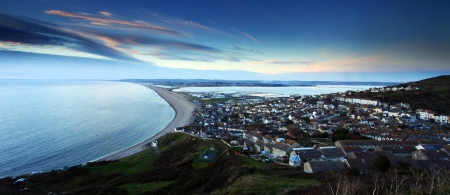 Sunset Chesil Beach Fortuneswell Portland Dorset photo