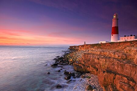 Portland Bill Light House sunrise on the Dorset Coast