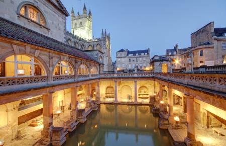 avon: Roman Baths in Bath Avon in the United Kingdom
