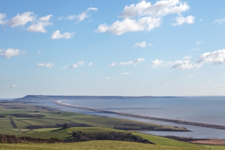 Chesil beach in dorset and portland isle