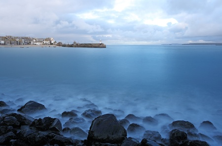st ives harbor in south west cornwall england UK photo