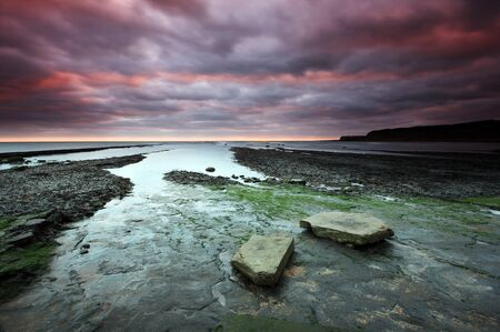 kimmeridge: kimmeridge bay dorset on the english south coast Stock Photo