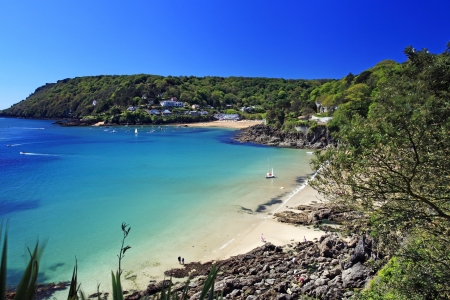 Salcombe ria (estuary) insouth Devon England UK