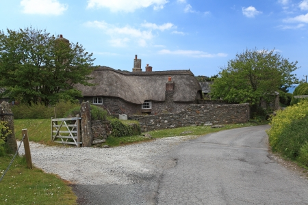 thatched cottage: Rural Thatched cottage in the South hams South Devon England