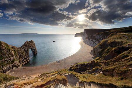 durdle door: Durdle Door Dorset England Stock Photo